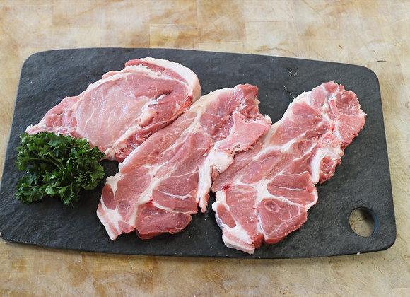 Côte échine de porc (2 pièces)