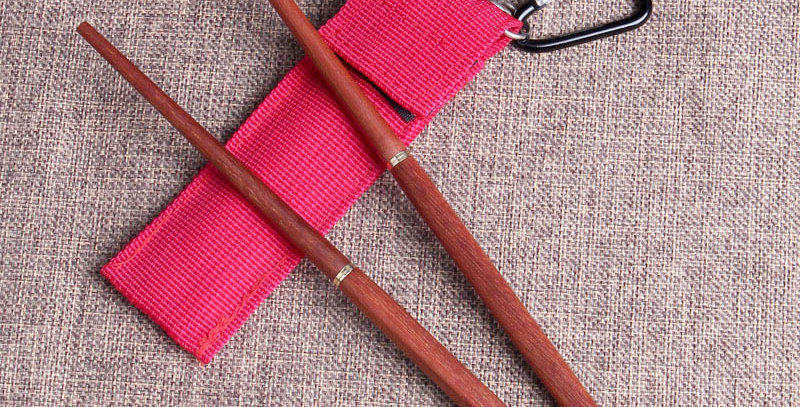 Pocket Rose Wood Chopsticks
