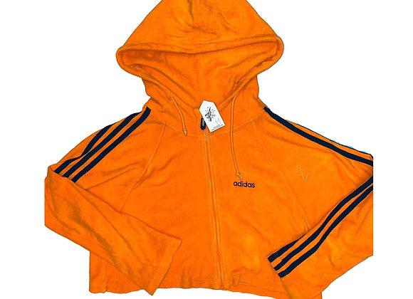 Adidas Vintage Hoodie Crop Top