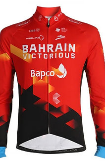 BAHRAIN VICTORIOUS  2021 ORIGINAL TRIKOT langarm mit durchgeh. Reissverschluss