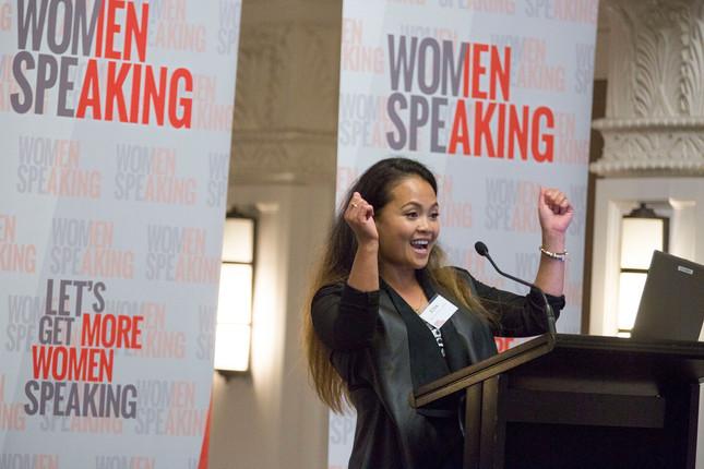 Women speaking presentation training canberra, melbourne, Sydney