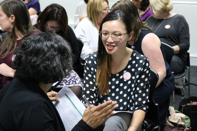 women speaking and presentation training Canberra