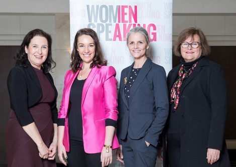 Catherine and the women speaking team - Canberra speaking and presenation training