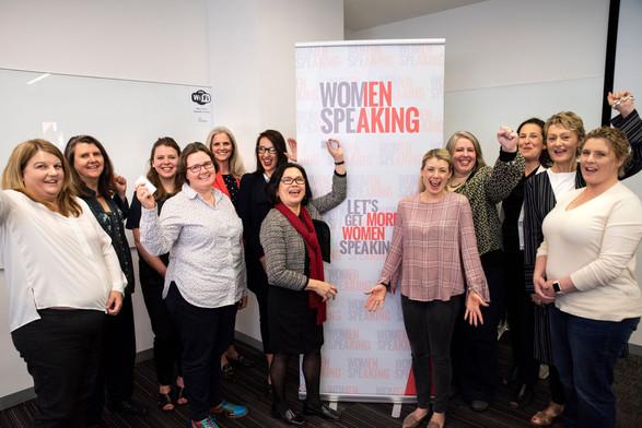 Women speaking presentation workshop