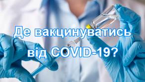 Пункти вакцинації м. Кам'янське