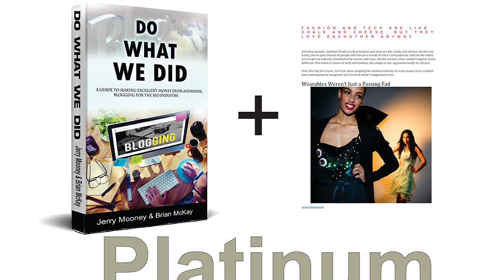 Do What We Did - Platinum Starter Package