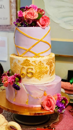 Three Tier Cake 65th Birthday