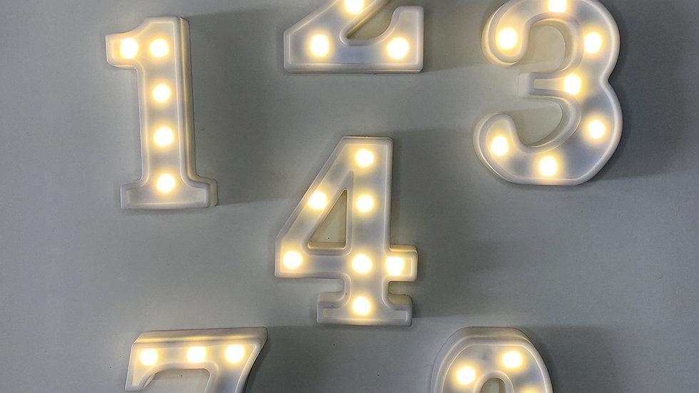 Números luminosos