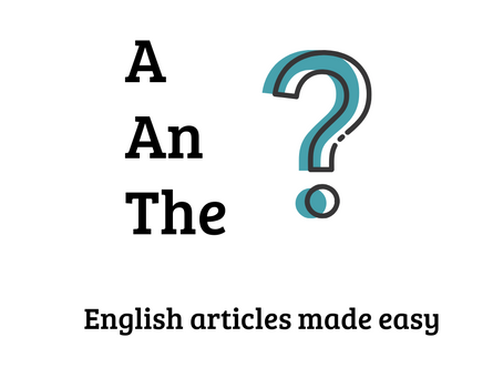 a, an, the.  An article about articles.