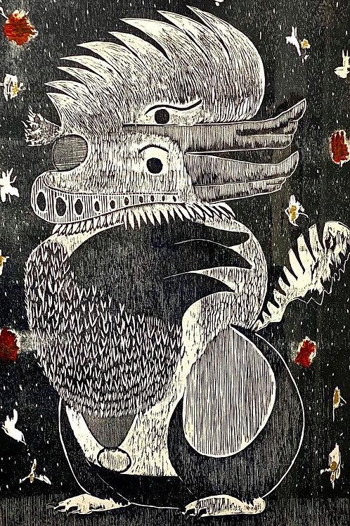 Navatovara, en su disfraz de tigre