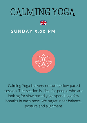 Gentle Yoga starts with a few minutes of