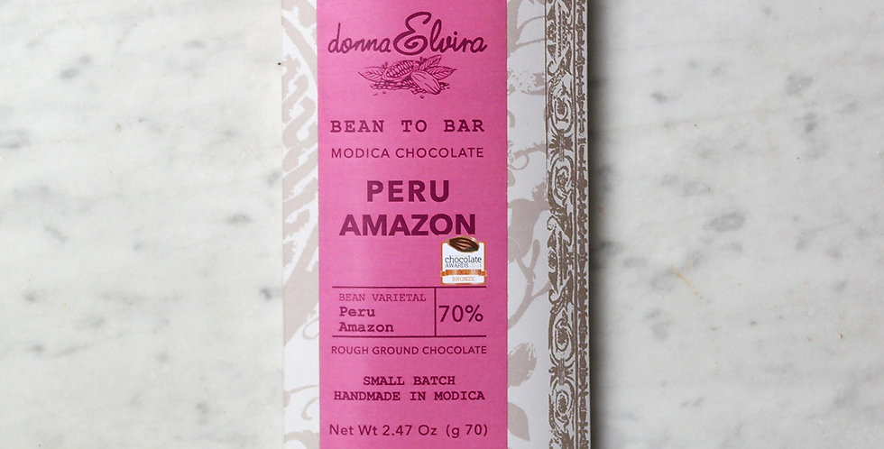 PERU' AMAZON 70% Modica Chocolate bar