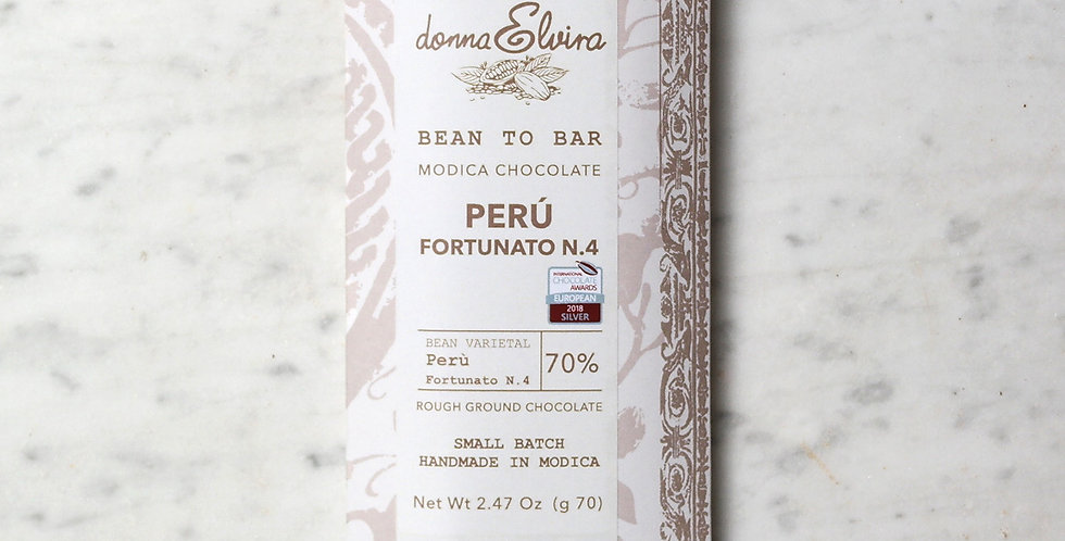 PERU' FORTUNATO N°4 70% Modica Chocolate bar