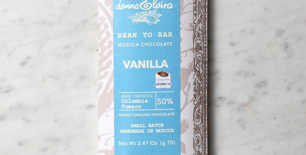 VANILLA 50% Modica Chocolate bar