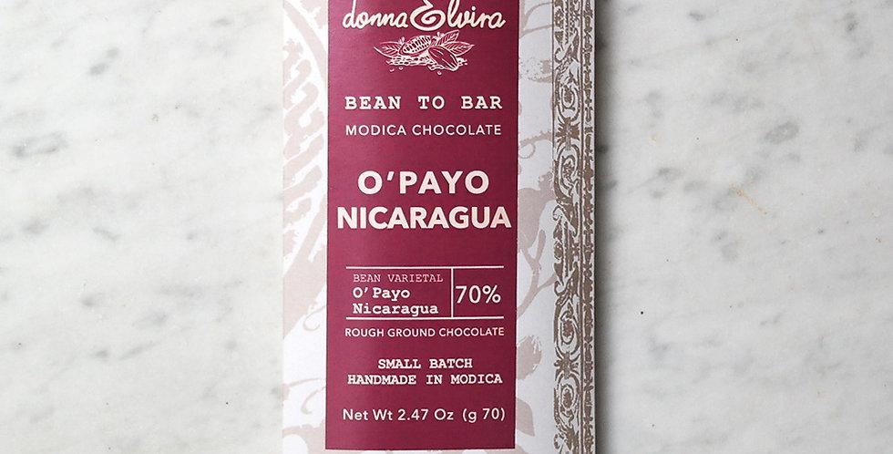 NICARAGUA O'PAYO 70% Modica Chocolate bar