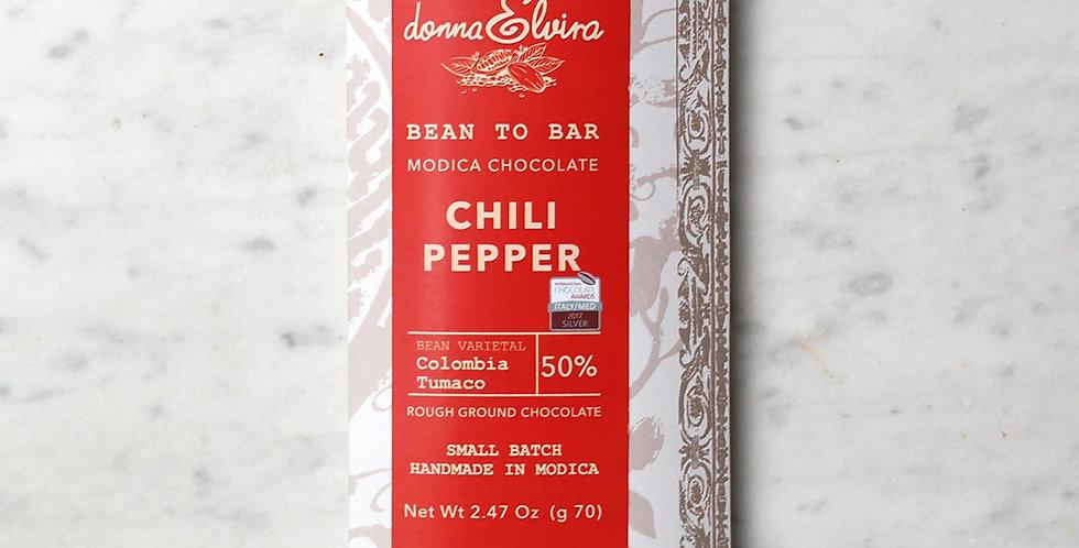 CHILI PEPPER 50% Chocolate Modica bar