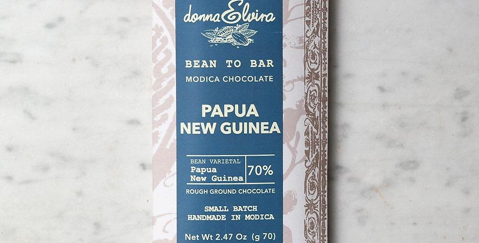 PAPUA NUOVA GUINEA 70% Modica Chocolate bar