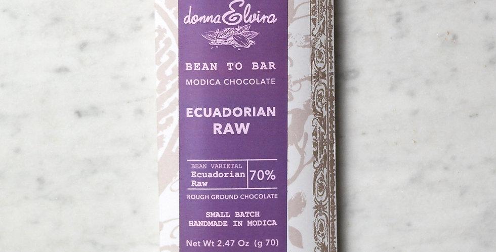 ECUADORIAN RAW 70% Chocolate bar