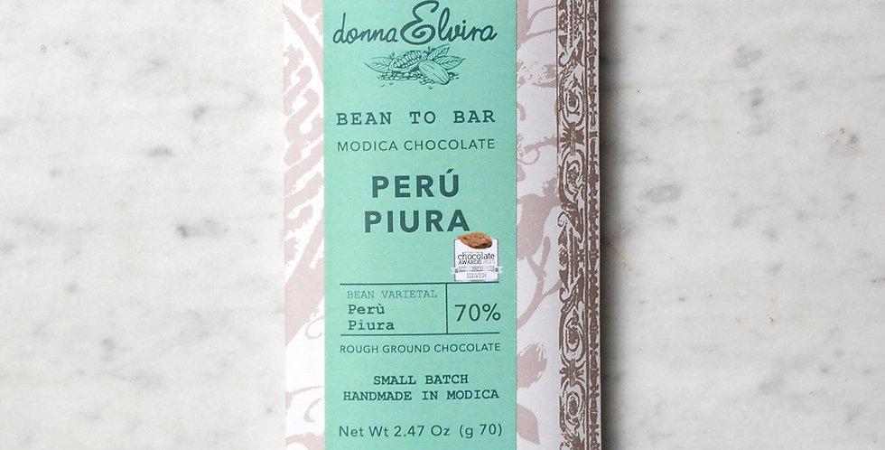 PERU' PIURA 70% Modica Chocolate bar