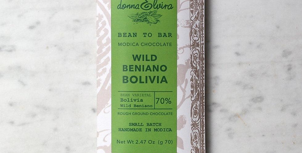 BOLIVIA WILD 70% Modica Chocolate bar