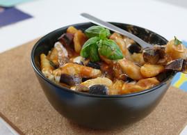 Fresh Pasta alla Norma   Mozzarella Variation   A Sicilian Masterpiece