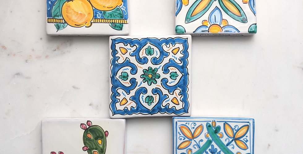 Caltagirone Handpainted Tiles | Coasters or Trivet