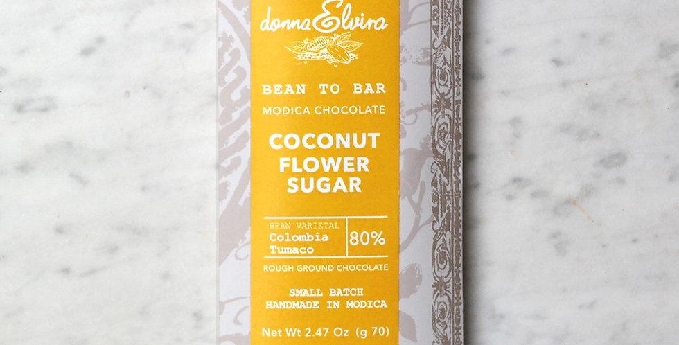 COCONUT SUGAR 80% Modica Chocolate bar