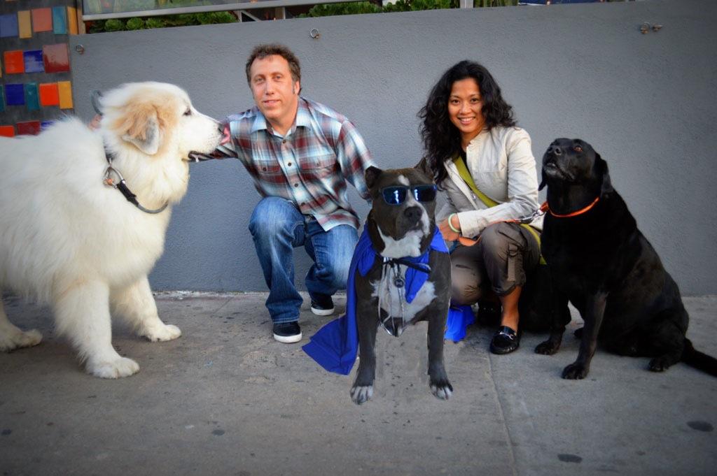 Family photo at Venice Beach