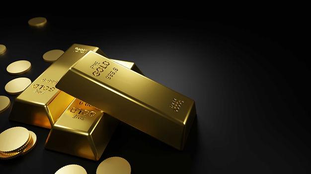 gold-bars-coins-black-table-3d-render_re