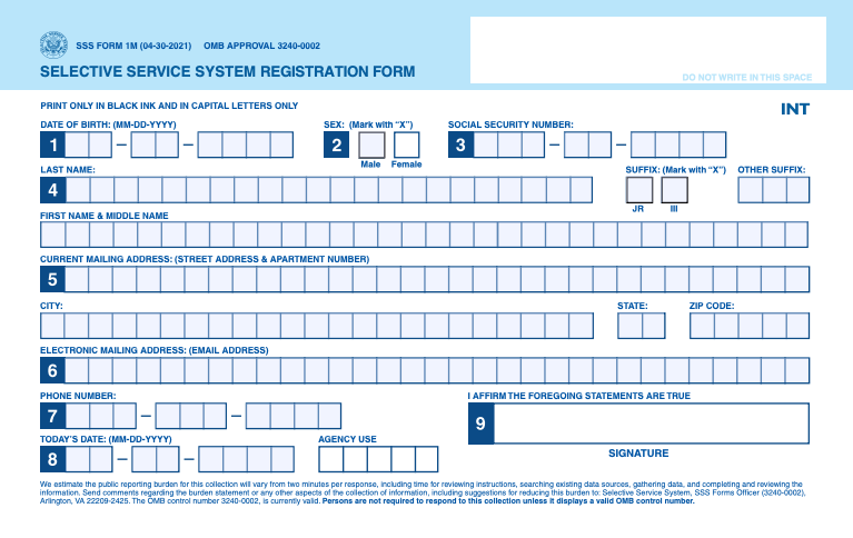 draft registration form