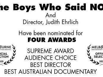Melbourne Festival - Four Award Nominations!