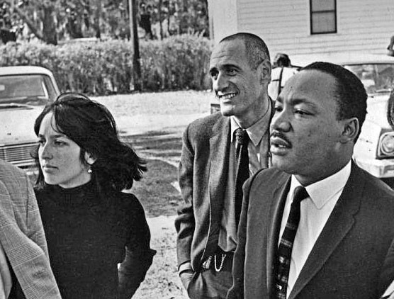 Ira Sandperl with Joan Baez and Martin Luther King