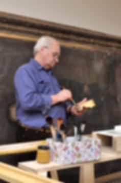 Zenon Lizun, konserwator, konserwacja ram, złocenia