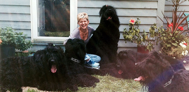 Zastava Black Russian Terriers with Olga Kornienko.