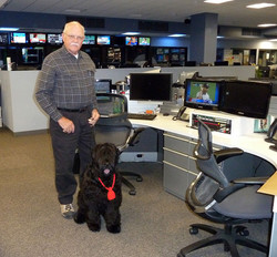 Anushka and Bill in TV studio