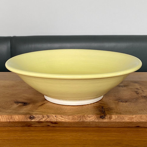 Pale yellow porcelain bowl