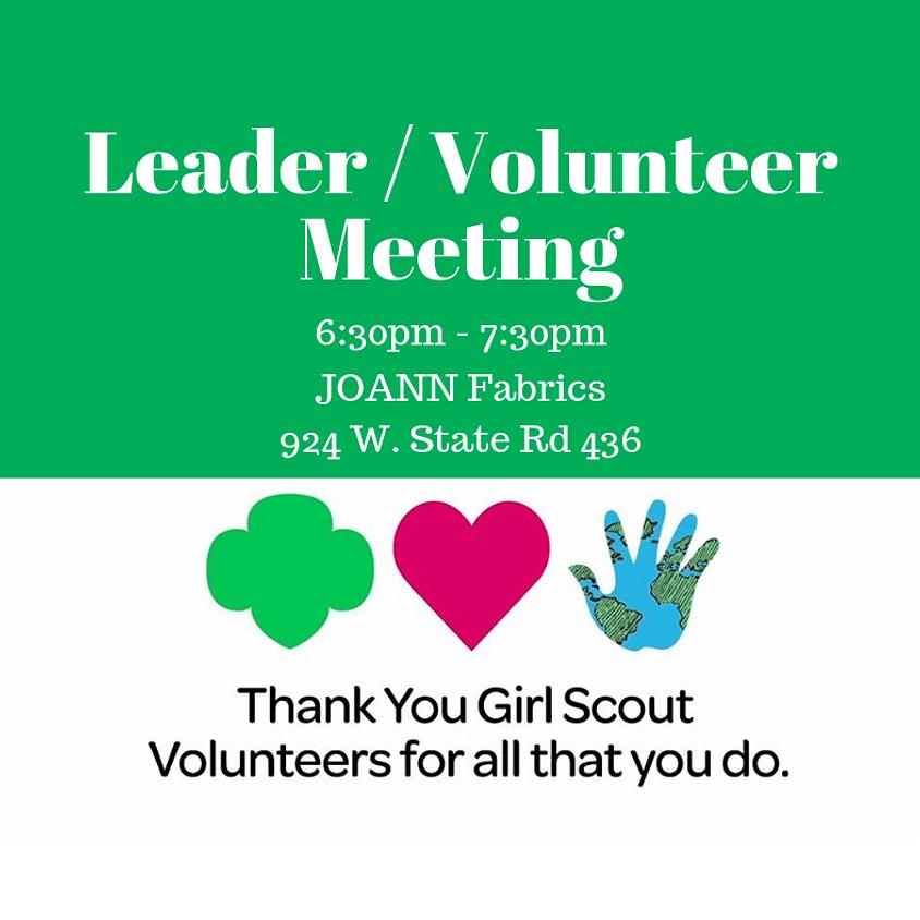 Leader/Volunteer Meeting - August
