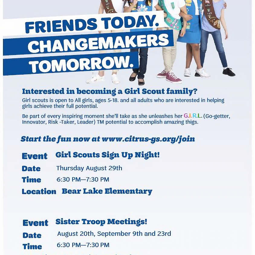 Bear Lake Elementary - Sign Up Night
