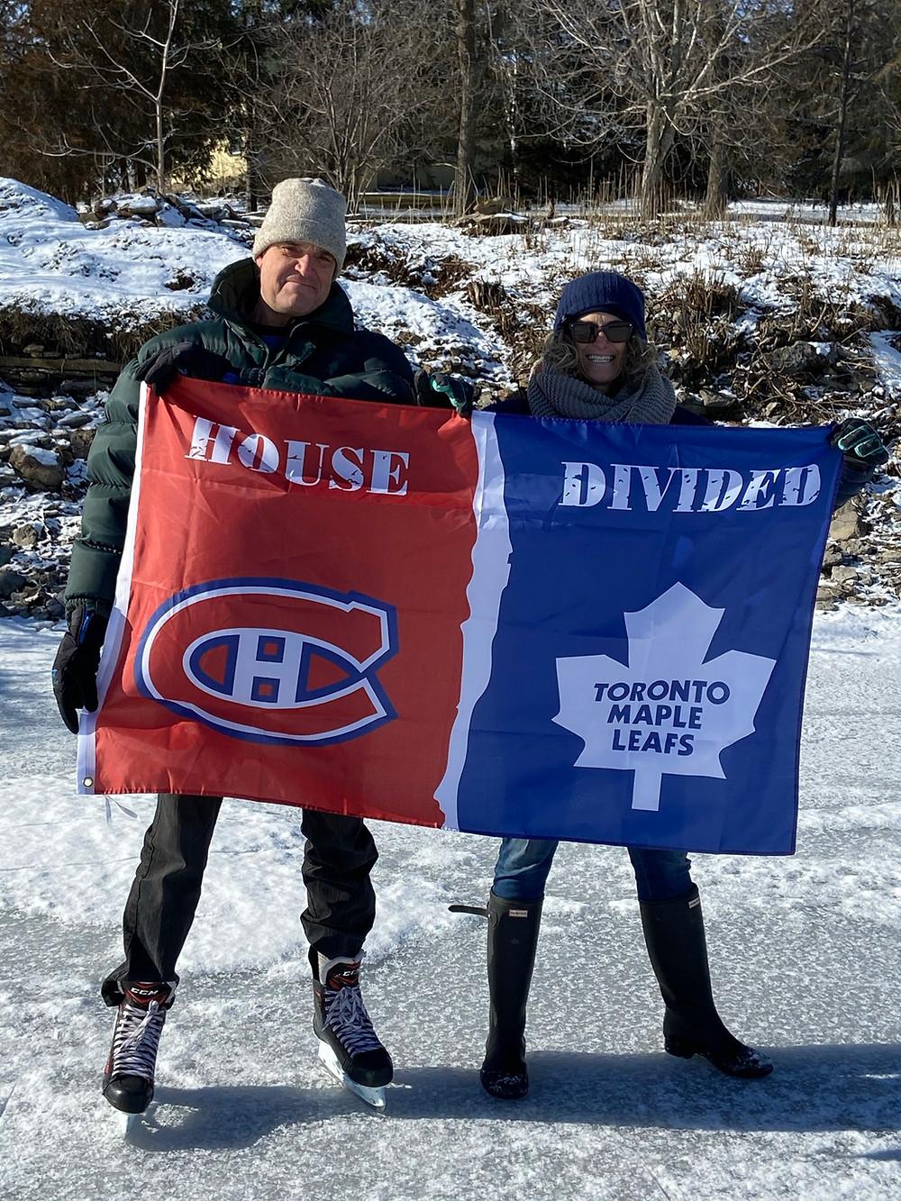 Habs Leafs flag
