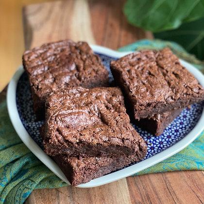 fudgy brownie chunks