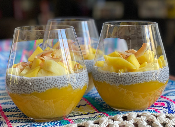 tropical chia pudding
