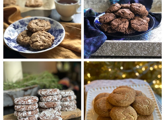 one dozen mixed cookies