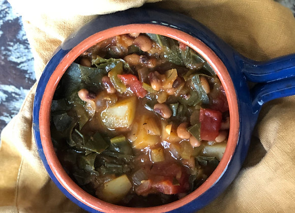 smoky beans and greens stew