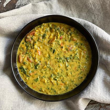 creamy golden lentil stew