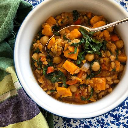 sweet potato & kale soup