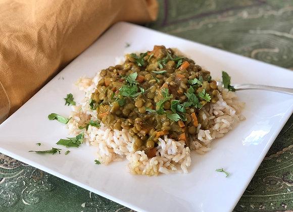 comforting lentil dal