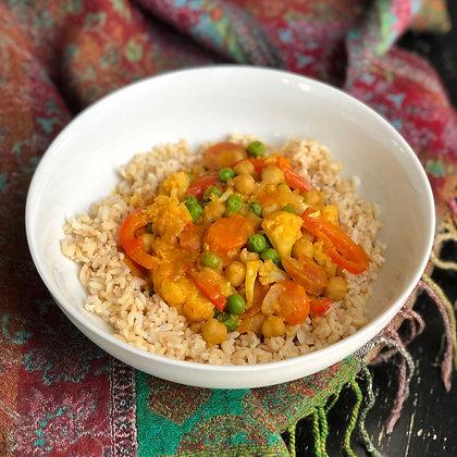 cauliflower peanut coconut curry
