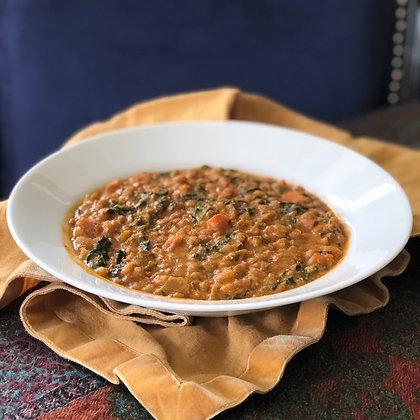 lentil coconut curry soup