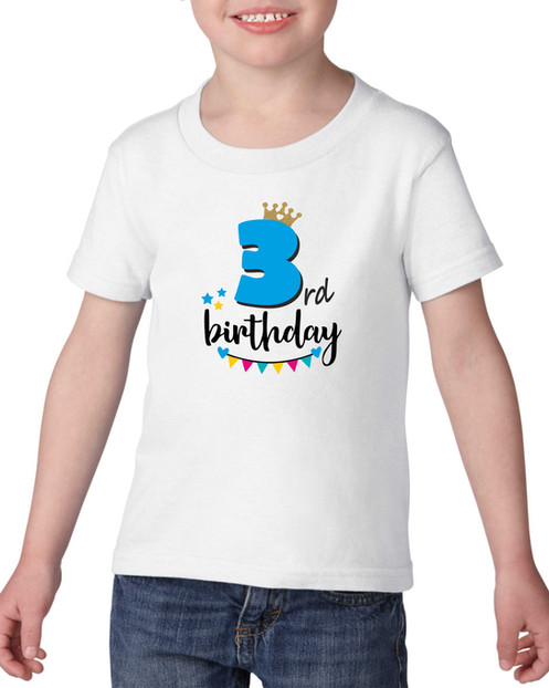 Happy 3rd Birthday Girls T Shirt Size 3 Years