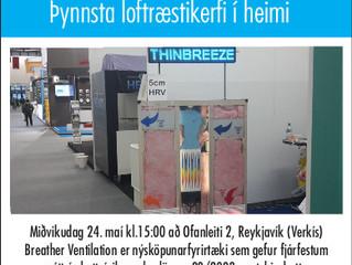 Breather Ventilation:  Open investor presentation in Reykjavík